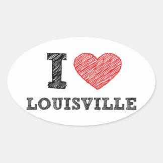 I-Love-Louisville Oval Sticker
