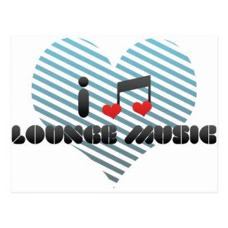 I Love Lounge Music Postcard
