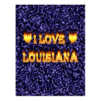 I love lousiana postcard
