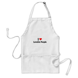 I love lovable people adult apron