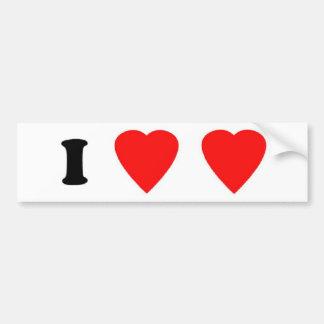 I Love Love Bumper Sticker