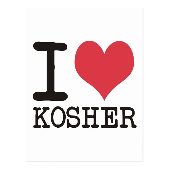 I Love LOVE - KOSHER - LIFE Products & Designs! Postcard