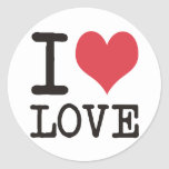 I Love LOVE - KOSHER - LIFE Products & Designs! Round Stickers