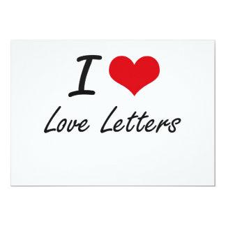 I love Love Letters 5x7 Paper Invitation Card