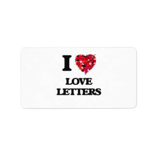 I love Love Letters Address Label