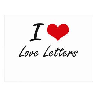 I love Love Letters Postcard