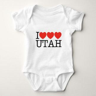 I Love Love Love UTAH! Baby Bodysuit