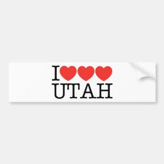 I Love Love Love UTAH! Bumper Sticker