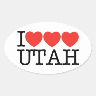I Love Love Love UTAH! Oval Sticker