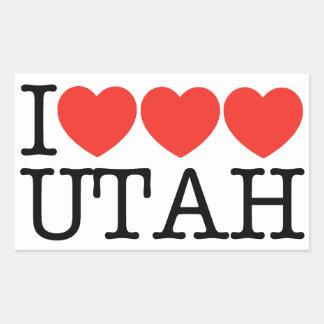 I Love Love Love UTAH! Rectangular Sticker