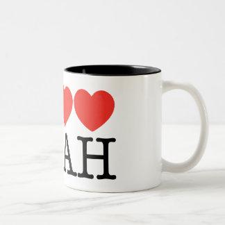 I Love Love Love UTAH! Two-Tone Coffee Mug