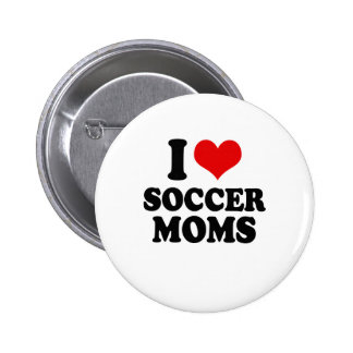I Love love soccer moms 2 Inch Round Button