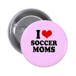 I Love love soccer moms Pinback Button