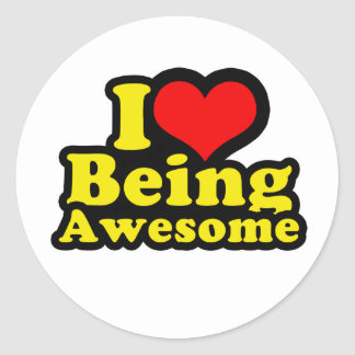 I Love lovebeawesome1 Classic Round Sticker