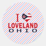 I love Loveland, Ohio Stickers