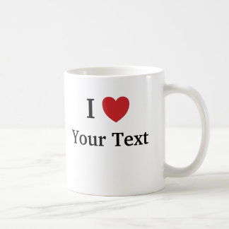 I Love Loves Me - Add Your Text 1 line 2-sided Mugs
