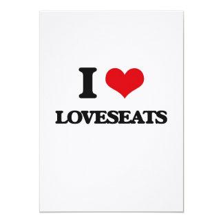 I love Loveseats 5x7 Paper Invitation Card