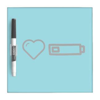 I Love Low Batterys Dry Erase Whiteboard