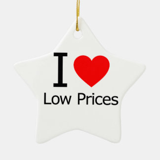 I Love Low Prices Christmas Ornaments