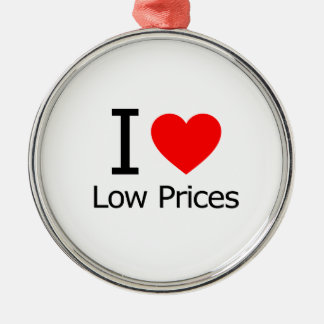 I Love Low Prices Ornament