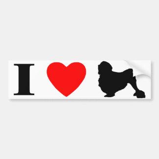 I Love Lowchens Bumper Sticker Car Bumper Sticker