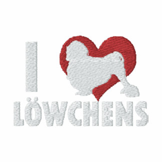 I Love Lowchens Embroidered T-Shirt
