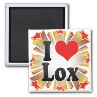 I Love Lox 2 Inch Square Magnet