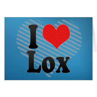I Love Lox Card