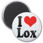 I Love Lox Fridge Magnet