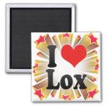 I Love Lox Fridge Magnets