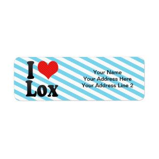 I Love Lox Label