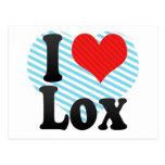 I Love Lox Post Card