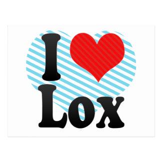 I Love Lox Postcard