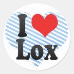 I Love Lox Round Stickers