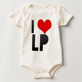 I Love LP Baby Bodysuit