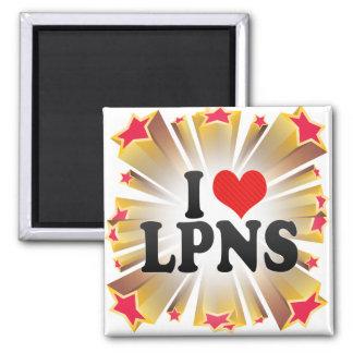I Love LPNS 2 Inch Square Magnet