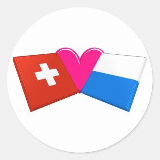 I Love Lucerne Round Stickers
