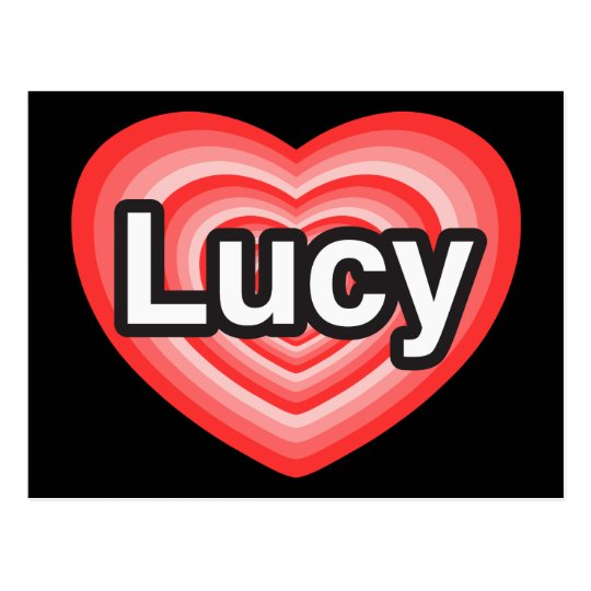 I love Lucy. I love you Lucy. Heart Postcard