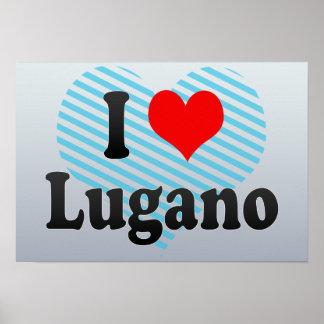 I Love Lugano, Switzerland Poster