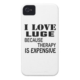 I Love Luge Because Therapy Is Expensive iPhone 4 Case