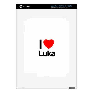 i love luka skins for iPad 3