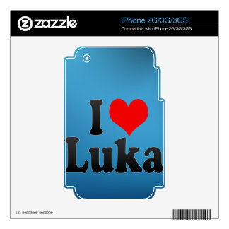 I love Luka Decal For The iPhone 3