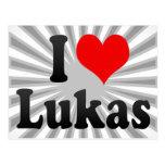 I love Lukas Postcard