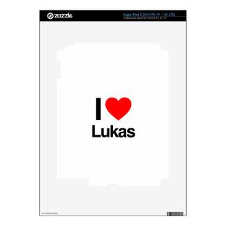 i love lukas skins for iPad 3