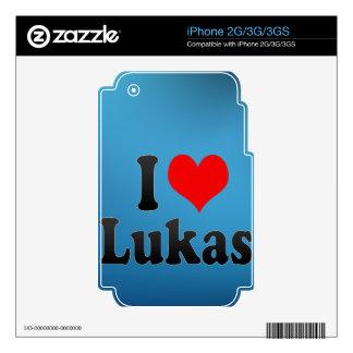 I love Lukas iPhone 3G Skin