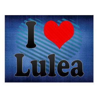 I Love Lulea, Sweden Postcard