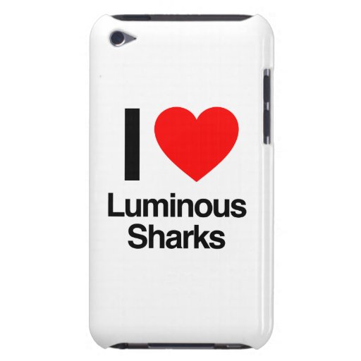 i love luminous sharks barely there iPod covers