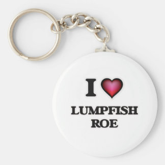 I Love Lumpfish Roe Keychain