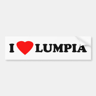 I Love Lumpia Bumper Sticker