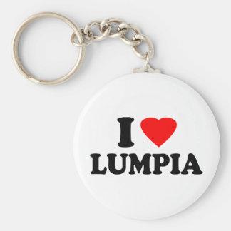 I Love Lumpia Basic Round Button Keychain